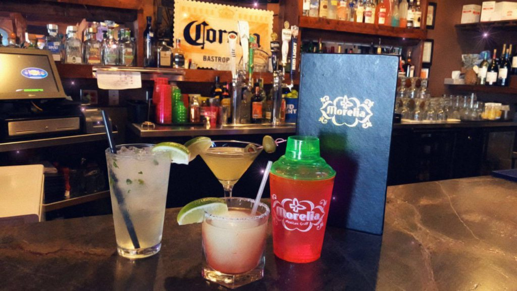 Morelia Mexican Grill drinks on the bar