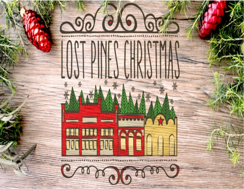 Lost Pines Christmas holiday web banner
