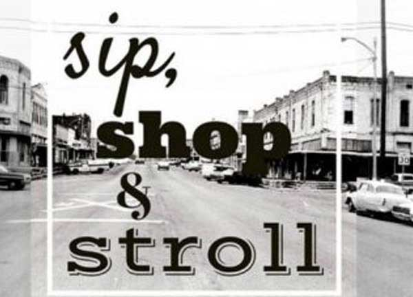Sip, Shop and Stroll Banner