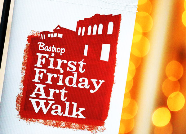 Bastrop First Friday Art Walk logo