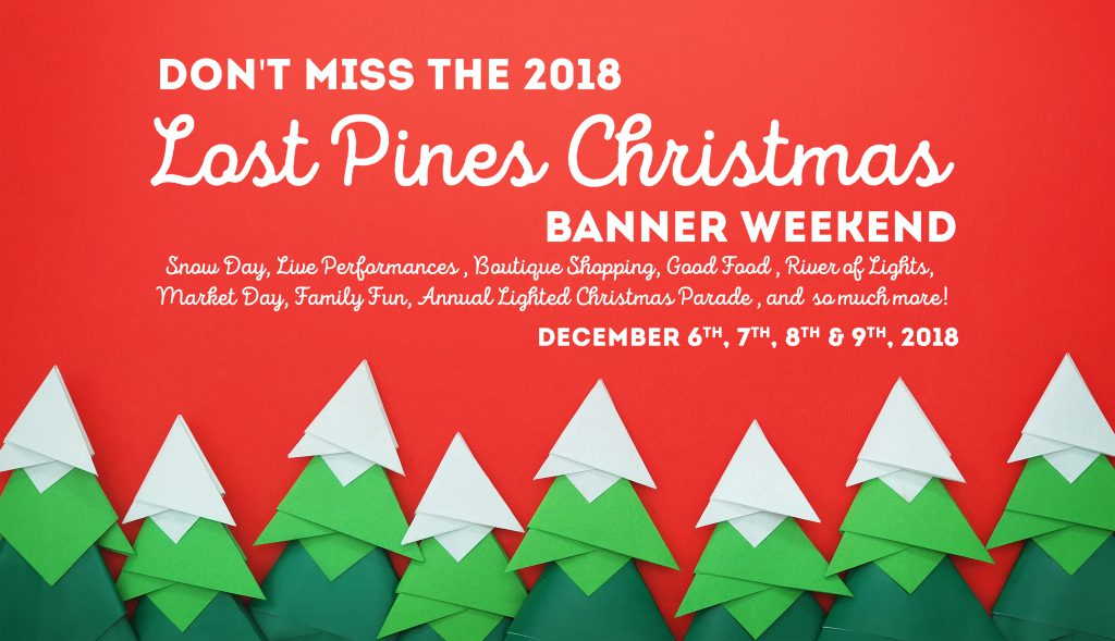 Lost Pines Christmas Banner 2018