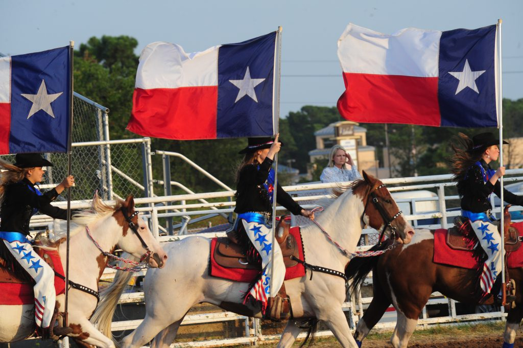 Texas flags were proudly showcased during the 68th Annual Bastrop Homecoming and Rodeo