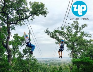 couple on zipline