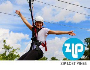 Girl on zipline