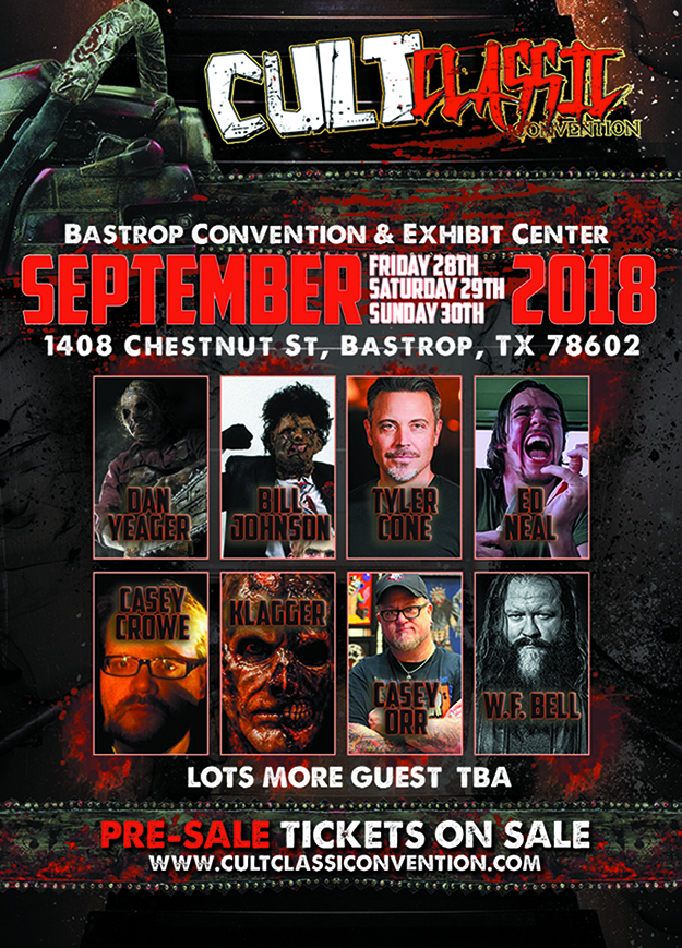 2018 cult classic convention poster