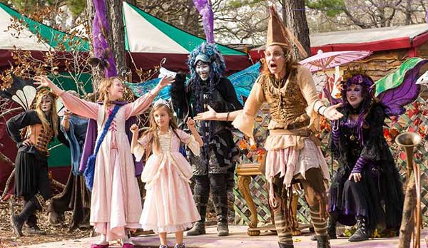 Sherwood Forest Faire attendees in costumes