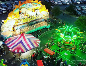 Aerial view of Hyatt Lost Pines Carnival