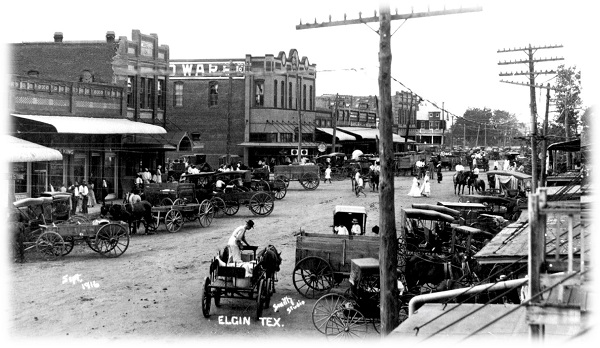 Historic Downtown Elgin Texas - historical
