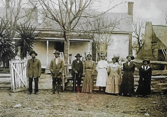 The McDonald Family photo in the Freedom Colonies of Bastrop County special museum exhibit