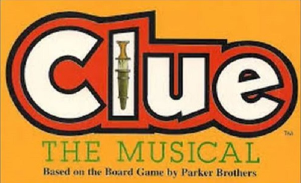 logo of Clue the Musical dinner theater 2019