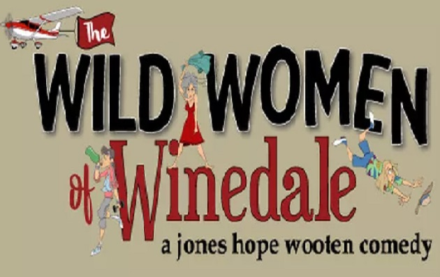 Logo for the comedic performance of Wild Women of Winedale to be performed at Bastrop Opera House