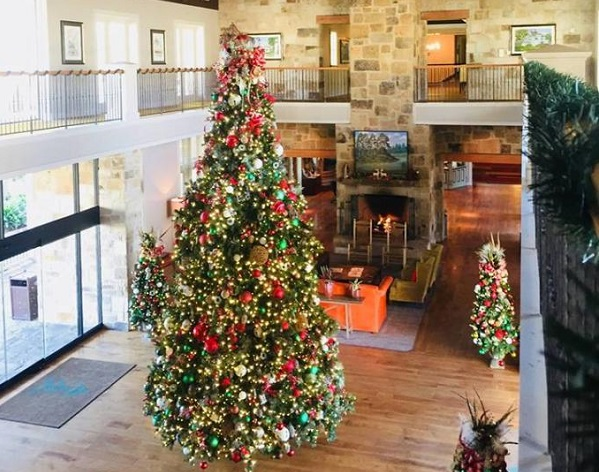 Christmas tree at Hyatt Lost Pines in Bastrop County Texas.