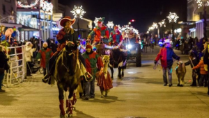 Lost Pines Christmas parade in Bastrop, Texas