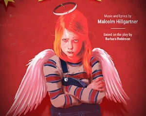 Sulky child angel image for The Best Christmas Ever musical