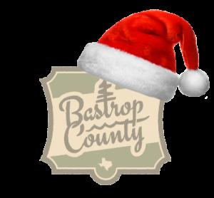Bastrop County logo with Santa Hat - Texas