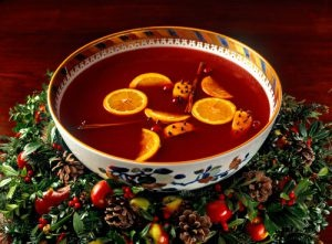 Bowl filled with Wassail