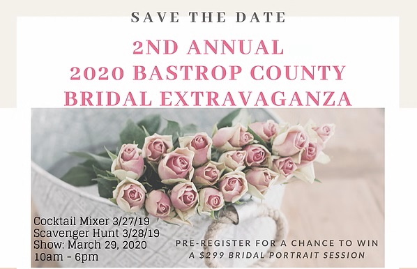Logo for Bridal Extravaganza event in Bastrop Texas in March 2020