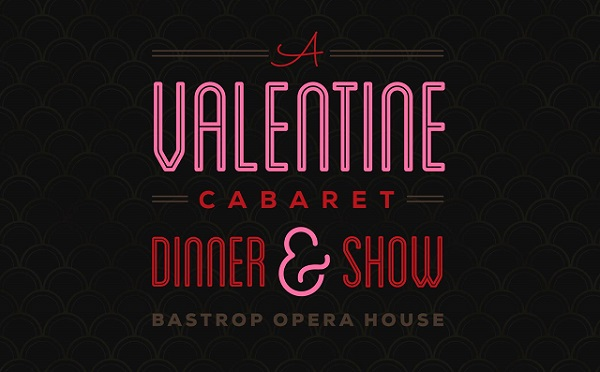 Logo for the Blame it on Broadway dinner and cabaret show to be held at the Bastrop Opera House in Bastrop, Texas