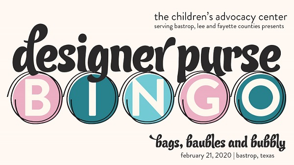 Logo image for Designer Purse Bingo 2020 event in Bastrop, Texas.