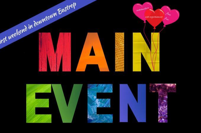 logo for the Main Event art series held in Bastrop in 2020.
