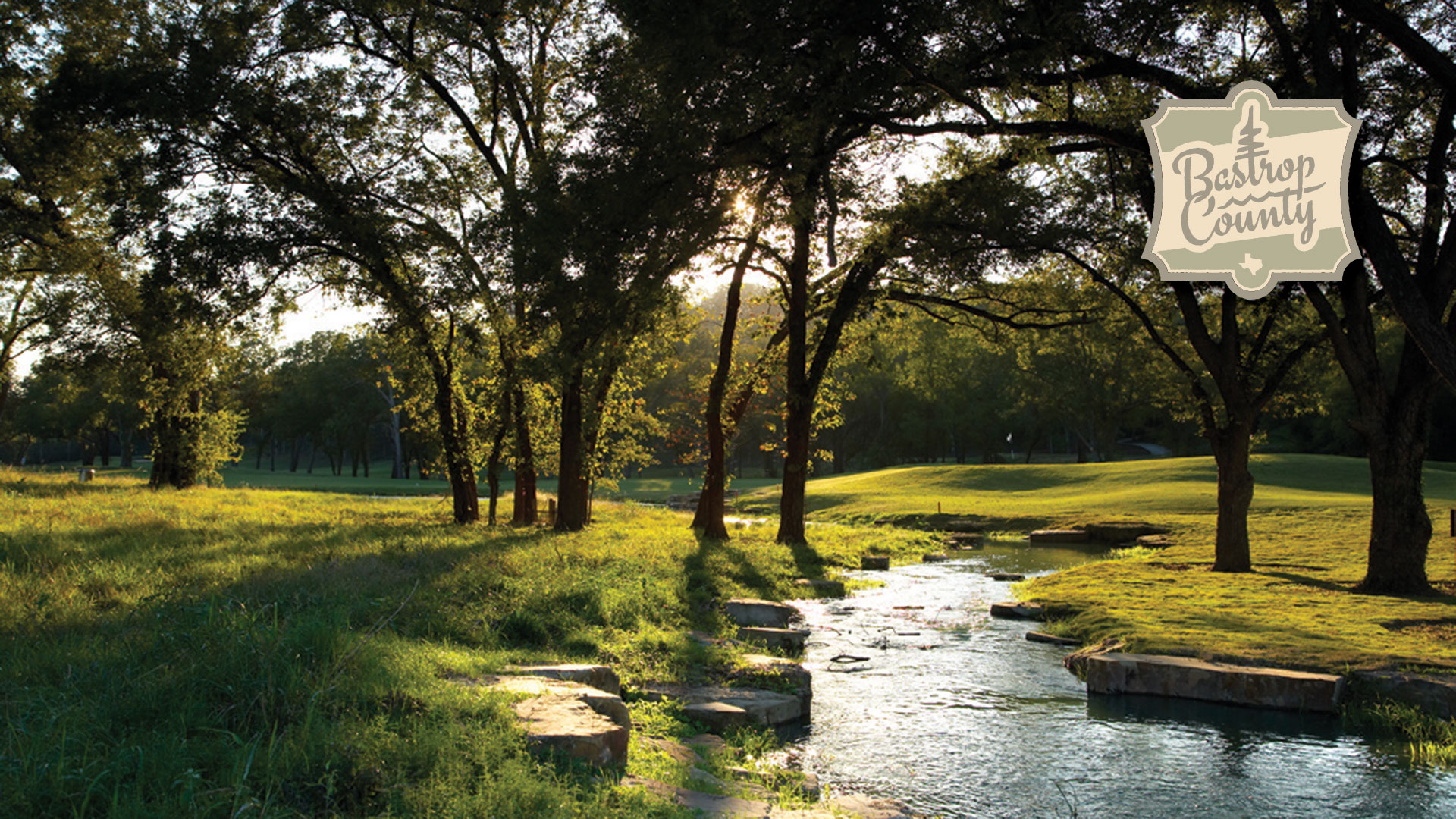 creek and fairway at Lost Pines Golf Course