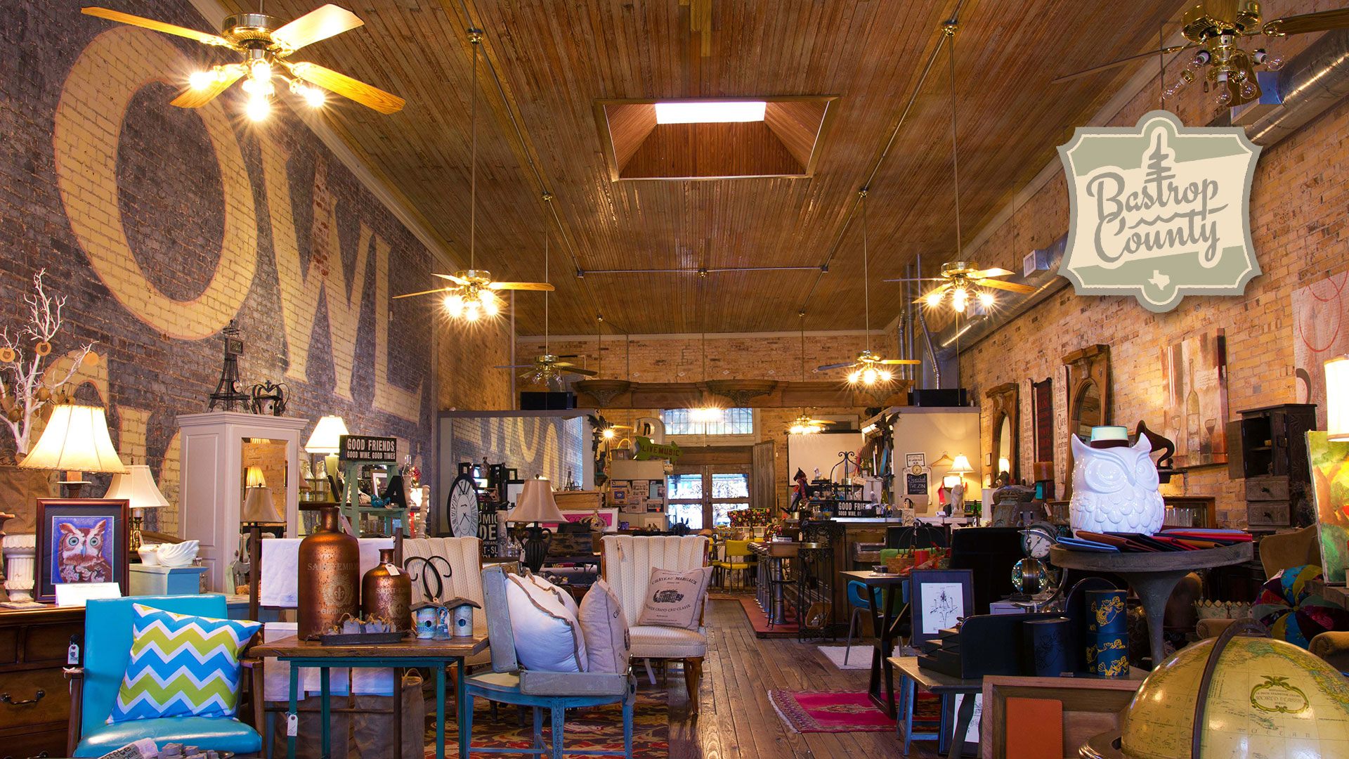 Interior furnishing at The Owl Wine Bar & Home Goods