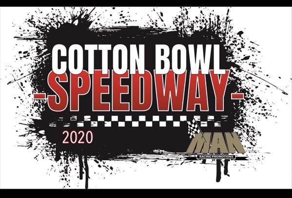 Logo for Cotton Bowl Speedway 2020 near Paige Texas.