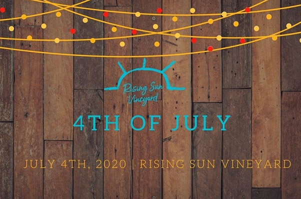 Rising Sun Vineyard's 4th of July logo